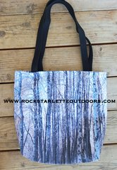 Rockstarlette Outdoors Snow Birch Tote Bag