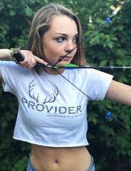 PROVIDER™ Hunting Logo, Crop Top T shirt, NEW!