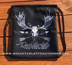 Tote Bag: Drawstring, Rockstarlette Outdoors Original Moose Logo