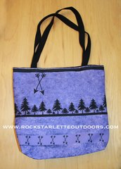 Rockstarlette Outdoors Purple Arrow Tote Bag