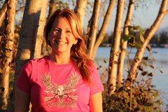 Rockstarlette Bowhunting Moose Logo T Shirt, Hot Pink