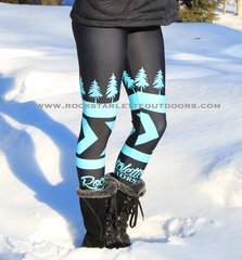 Teal Tree Logo Leggings, NEW! from Rockstarlette Outdoors