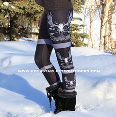 Rockstarlette Outdoors Side Logo Leggings, NEW!