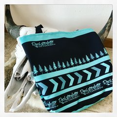 Rockstarlette Outdoors Teal and Black Logo Tote Bag