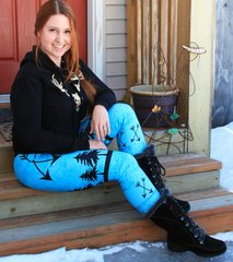 Arrow Leggings, Teal, NEW! from Rockstarlette Outdoors