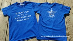 Kids Anti-Hunter Bullying T Shirt, Stand Up: Purple or Blue, SALE