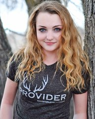 PROVIDER™ T shirt, Fitted Crewneck, Heathered Black