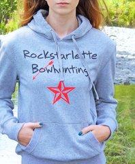 Rockstarlette Bowhunting Shimmer Hoodie in Grey, SALE