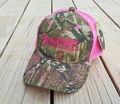 Hot Pink Mesh Back Mossy Oak Camo Rockstarlette Bowhunting Hat