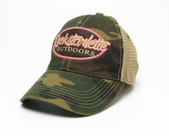 Camo Rockstarlette Outdoors Logo Mesh Back Hat