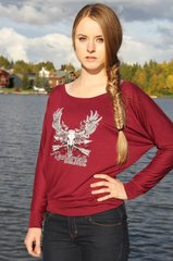 Maroon Relaxed Fit Logo Pullover, SALE $10 OFF