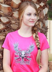SALE 50% OFF, Rockstarlette Bowhunting Moose Logo T Shirt in Pink or Red