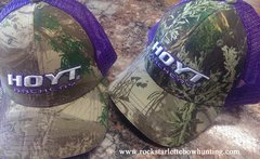 Hoyt Archery Logo Hat Max 1 Front, Purple Shimmer Mesh Back