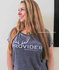 PROVIDER™ T shirt, Loose Fit Doleman Relaxed Style in Distressed Charcoal