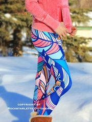 Feather Design Leggings, Rockstarlette Outdoors