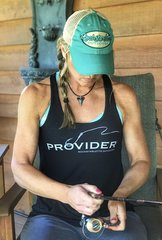 Fishing PROVIDER Relaxed Loose Fit Waist, Racerback Tank, Black, NEW!