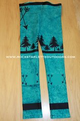 Youth Arrow Leggings, Teal, NEW! from Rockstarlette Outdoors