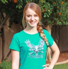Rockstarlette Bowhunting Moose Logo T Shirt, Teal