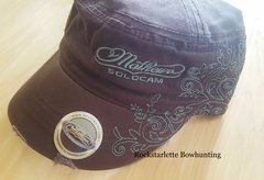 Mathews Archery Ladies Military Brown/Teal Short Bill Hat