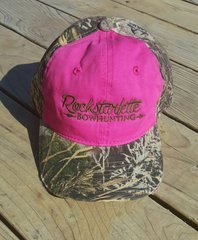SALE $12 OFF, Hot Pink and Max 1 Camo Rockstarlette Bowhunting Logo Hat