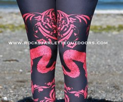Tribal Sheep Leggings, Dark Blue, NEW! from Rockstarlette Outdoors