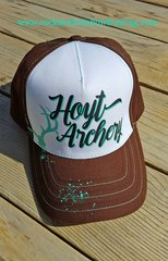 Hoyt Trucker Hat in Teal and Brown, SALE