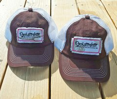 Mesh Back, Snow Camo Logo Patch Rockstarlette Bowhunting Hats