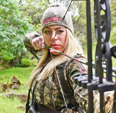 Beanie, Realtree Camo and Rockstarlette Bowhunting Teal or Hot Pink Logo, Fully Lined