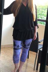 Purple Arrow Leggings, CAPRI Version NEW! from Rockstarlette Outdoors