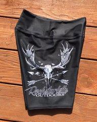 Rockstarlette Outdoors Moose Logo Yoga Shorts, NEW!