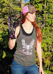SALE $10 OFF, Camo Rockstarlette Bowhunting Logo Tank Top