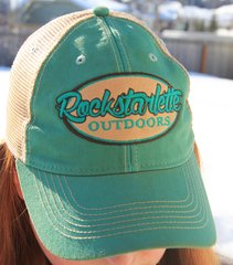 NEW! Teal Rockstarlette Outdoors Logo Mesh Back Hat