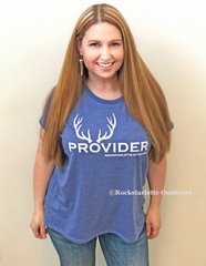 PROVIDER™ T shirt, NEW! Loose Crewneck, Heather Blue