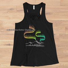 Northern Lights Adventure Relaxed Racerback Tank, Black