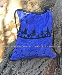 Tote Bag: Purple Arrow Pattern Drawstring Bag