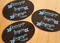 Encourage, Inspire, Empower Stickers, Free shipping