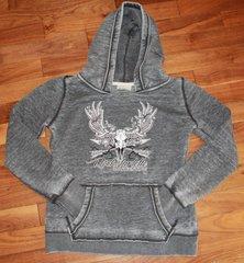 SALE $20 OFF, Vintage Logo Hoodie, Charcoal Grey, Rockstarlette Bowhunting