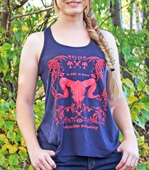 Tribal Sheep Logo Racerback Tank Top, Be Bold, Be Brave, SALE