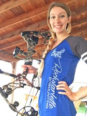 Blue Color Block T Shirt, Rockstarlette Bowhunting, SALE