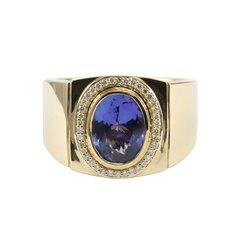 Men's Tanzanite and Diamond Ring