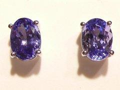 Tanzanite Oval Cut stud Earrings