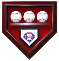 Team 3 Baseball Homeplate Shaped Display Case