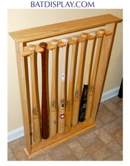 Eight Baseball Bat Floor Stand Display Rack