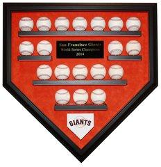 2014 World Series Champion San Francisco Giants 19 Baseball Display Case