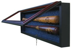 Premium 2 Baseball Bat UV Protective Shadow Box Display Case