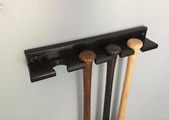 4 bat Vertical Baseball Bat Display Rack