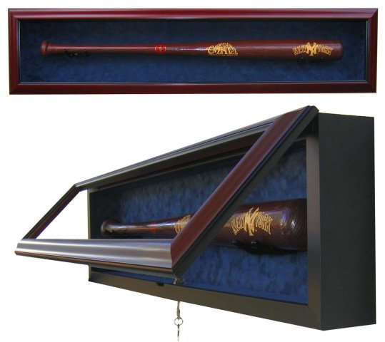 Premium 1 Baseball Bat Uv Protective Shadow Box Display