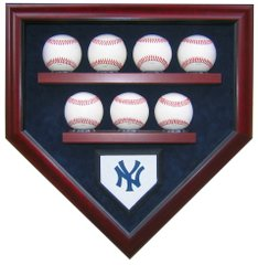 Team 7 Baseball Homeplate Shaped Display Case