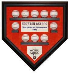 2017 World Series Champion Houston Astros 10 Baseballs Display Case
