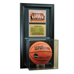 Team Recognition Award Frame with Basketball Case and Engraved Plaque